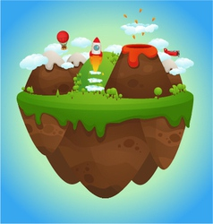 Floating island vector