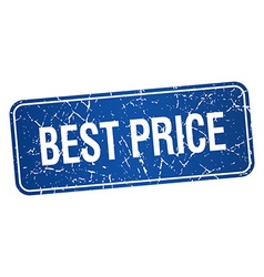 Best price blue square grunge textured isolated vector