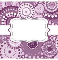 Patterned frame background invitation circular vector