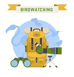 Birdwatching Tourism Concept vector image