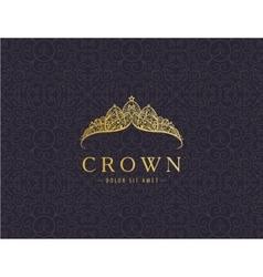 Abstract luxury royal golden company logo icon vector