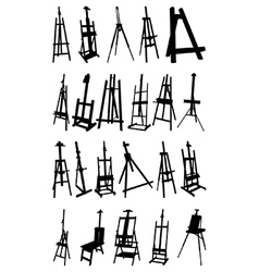 Artist easels vector image