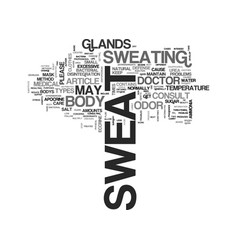 Beauty care what is sweat text word cloud concept vector