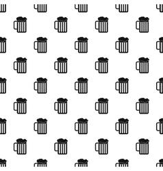 Beer mug pattern simple style vector