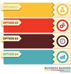 Business banner infographic vector image vector image