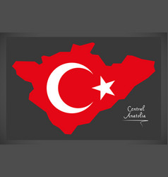 Central anatolia turkey map vector