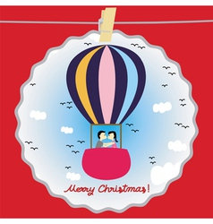 Christmas greeting card62 vector image