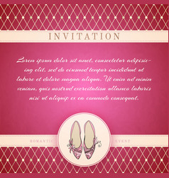 Cinderella princess invitation template vector
