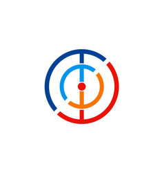 Circle target colored logo vector