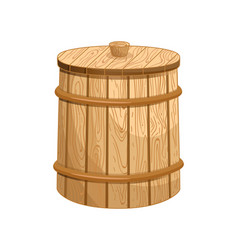 closed milk wooden barrel isolated icon vector image vector image