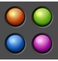 Design elements Color Buttons and Bulbs vector image