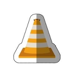 Dotted sticker striped traffic cone degrade vector