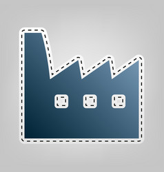 Factory sign blue icon with vector