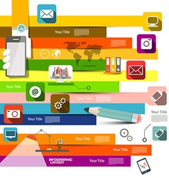 Flat Design Infographic Layout vector image vector image