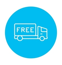 Free delivery truck line icon vector