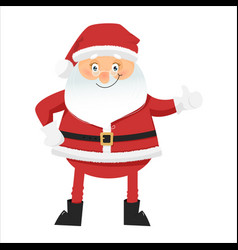 funny santa claus with thumbs up vector image vector image