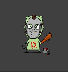 halloween jason vector image