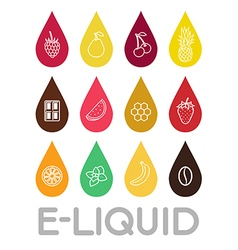 Icons of E-Liquid vector image vector image