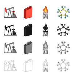 Industry enterprises plant and other web icon in vector