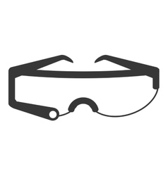 modern frame glasses icon vector image