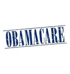 Obamacare blue grunge vintage stamp isolated on vector