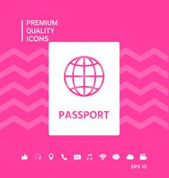 Passport symbol icon vector