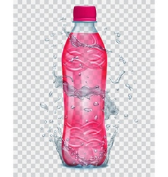 Plastic bottle with juice vector image vector image