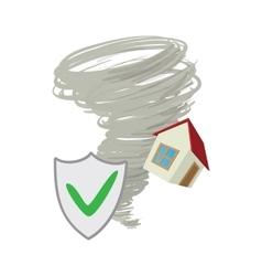 Property insurance icon cartoon style vector