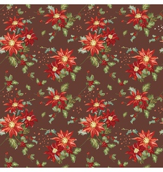 Retro christmas seamless background vector