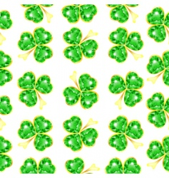 shamrock pattern vector image vector image