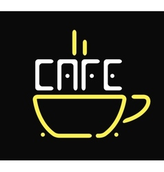 Shop cafe icon coffee cup restaurant sign vector image