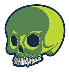 strange skull vector image