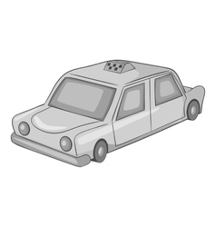 Taxi car icon gray monochrome style vector image vector image