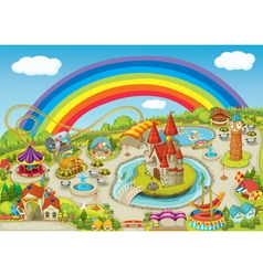 Theme park background vector
