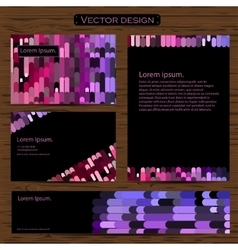Visiting card and business cards set with vector image