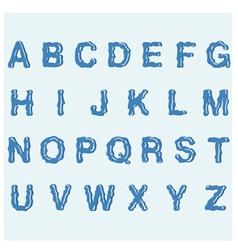 Water alphabet vector