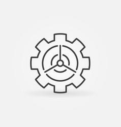 Wind energy in gear concept icon vector