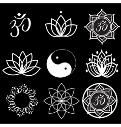 Yoga Labels and Icons vector image