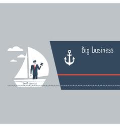 Business size comparison or enlargement vector
