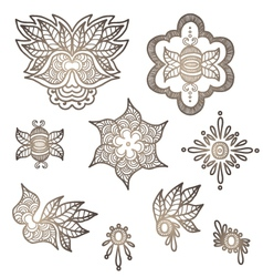 Indian elements for design vector