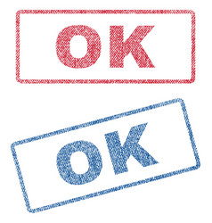 Ok textile stamps vector