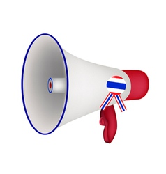 A loudspeaker or megaphone on white background vector