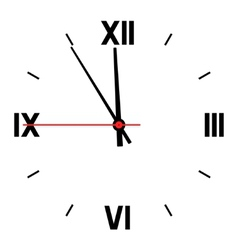 Dial of hours vector