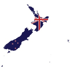 New Zealand Map Flag vector image