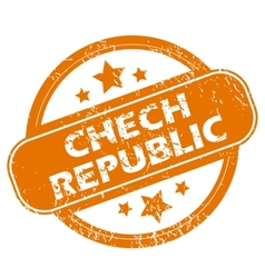 Chech republic grunge icon vector