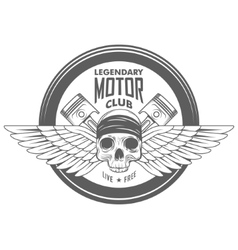 Vintage motorcycle label badge vector