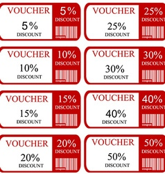 Discount promotion coupon vector