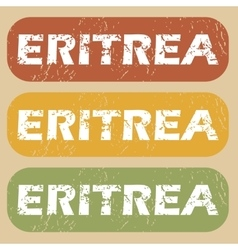 Vintage eritrea stamp set vector