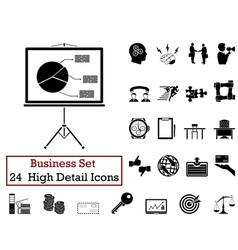 Icon set business vector