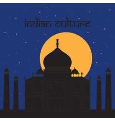 Taj mahal temple landmark in agra india indian vector